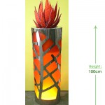 Obligato Stainless Steel round Height: 100cm