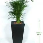 32cm Square slimline tapered planter Height: 80cm