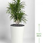 40cm taper planter white Height: 60cm