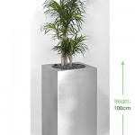 41cm Premier cube (stainless steel) Height: 100cm